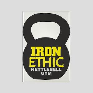 Kettlebell with logo Rectangle Magnet