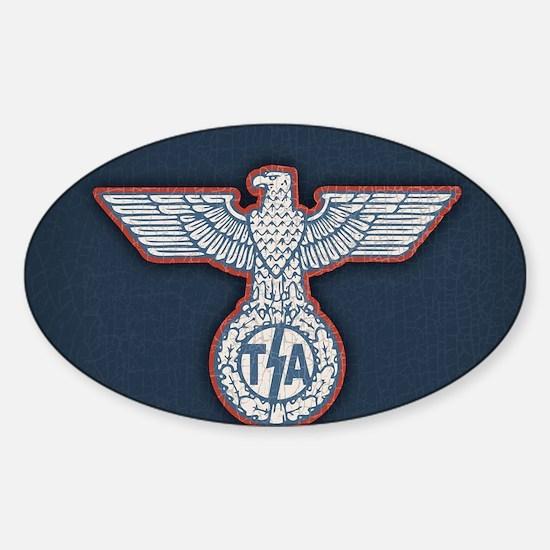tsa-eagle-CRD Sticker (Oval)