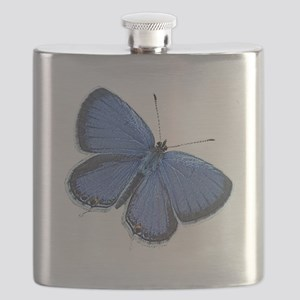 Blue Butterfly iPhone 4 Slider Case Flask