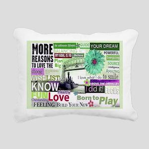 wishlist11x9calendargree Rectangular Canvas Pillow