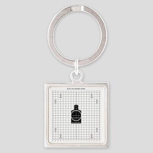 25m_zero Square Keychain