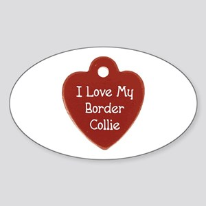Collie Tag Oval Sticker