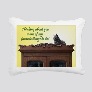 Thinking of You Kitty Ca Rectangular Canvas Pillow