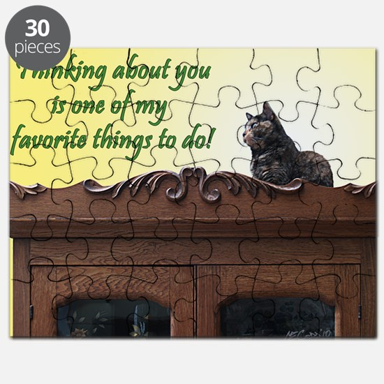 Thinking of You Kitty Cat Puzzle