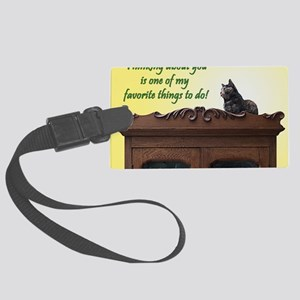 Thinking of You Kitty Cat Large Luggage Tag