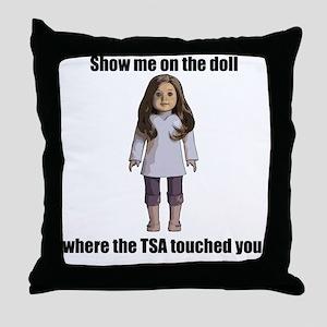 TSA_Doll_Transparent Throw Pillow
