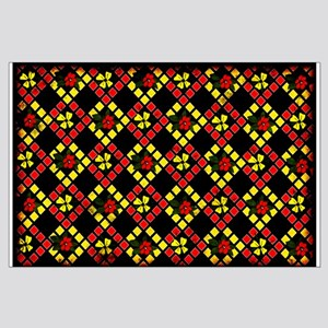 Tapestry Flowers Large Poster