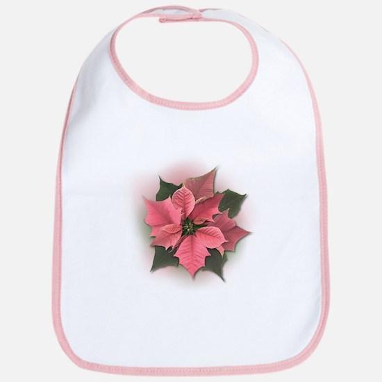 Pink Poinsettia Bib