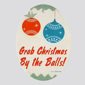 christmasbytheballs Oval Ornament