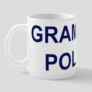 GrammarPoliceNavyBlueBack Mug
