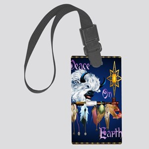 Peace On Earth PosterP Large Luggage Tag