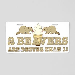 2 beaverS_2 Aluminum License Plate