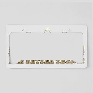 2 beaverS_2 License Plate Holder