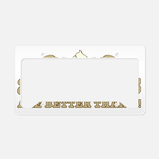 2 beaverS_2 License Plate Holder