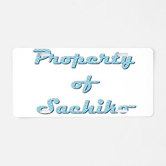Property Of Sachiko Female Aluminum License Plate