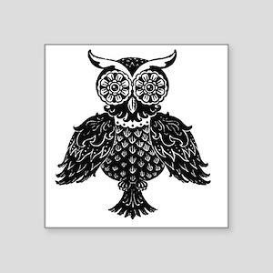 "Owl 4 0f 4 Design created b Square Sticker 3"" x 3"""