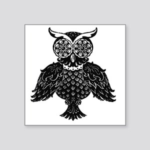 Black White Owl Stickers Cafepress