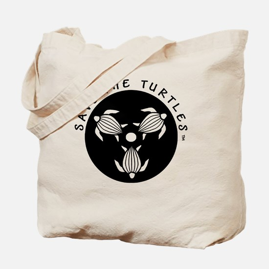 SAVE THE TURTLES BLACK LOGO DESIGN Tote Bag