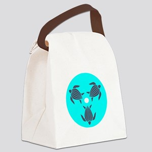 Save the Turtles Blue Logo dark s Canvas Lunch Bag