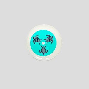 Save the Turtles Blue Logo dark shirt Mini Button