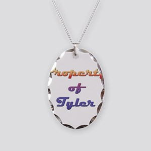 Property Of Tyler Male Necklace Oval Charm