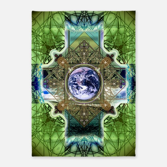 Earth-Ascension-Peace-Mandala 5'x7'Area Rug