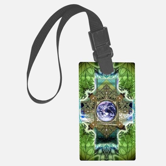Earth-Ascension-Peace-Mandala Luggage Tag