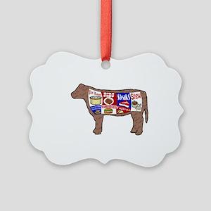 Cow Picture Ornament