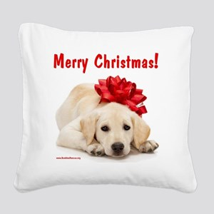 merry_christmas_3 Square Canvas Pillow