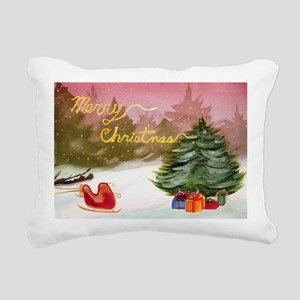 Christmas Card-Cover-Caf Rectangular Canvas Pillow