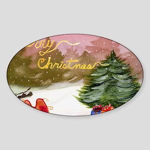 Christmas Card-Cover-CafePress Vers Sticker (Oval)