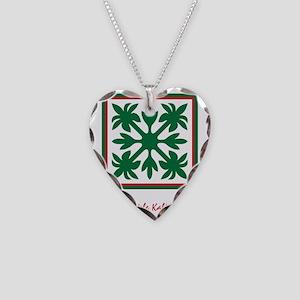 NoteCard~TiMeleKalikimaka5x7  Necklace Heart Charm