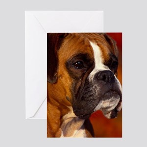 Boxer red journal Greeting Card