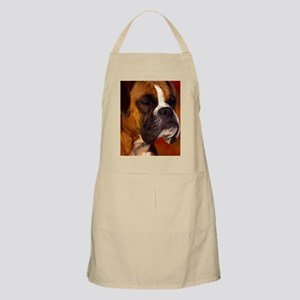 Boxer red journal Apron