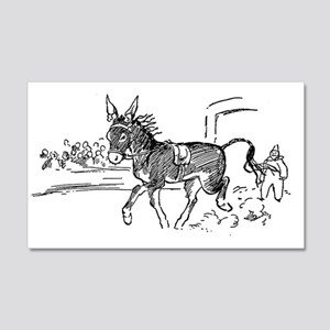 Little Donkey 20x12 Wall Decal