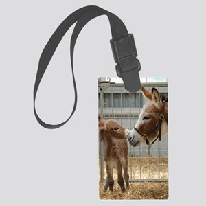Newborn Donkey Foal Large Luggage Tag