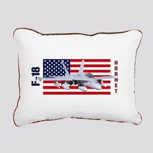 F-18 Hornet Rectangular Canvas Pillow