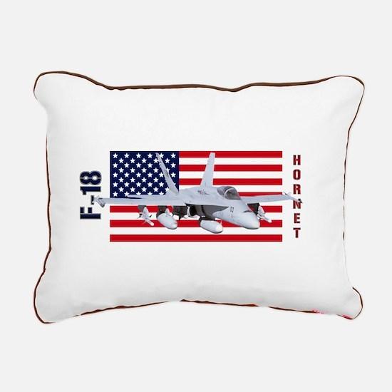F-18 Hornet Rectangular Canvas Pillow