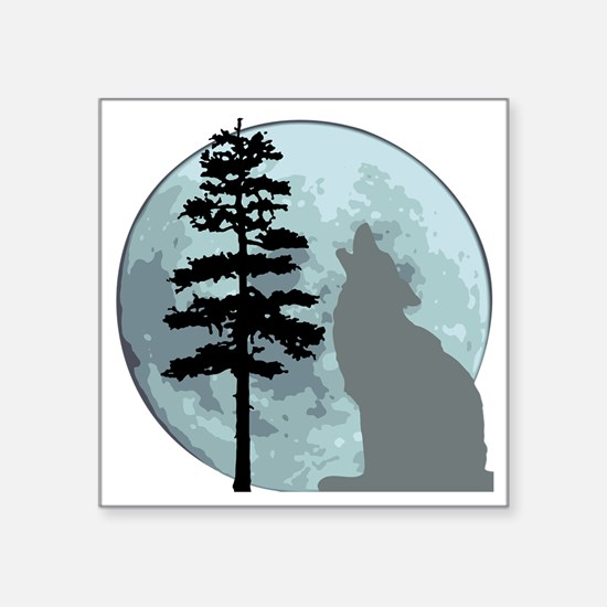 "wolfmoongray Square Sticker 3"" x 3"""