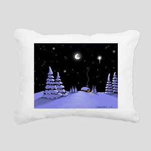 snow_edited-2 Rectangular Canvas Pillow