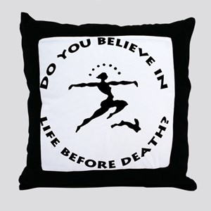 do you believe large inverted transpa Throw Pillow