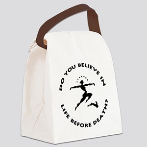 do you believe large inverted tra Canvas Lunch Bag