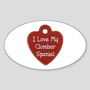 Clumber Tag Oval Sticker
