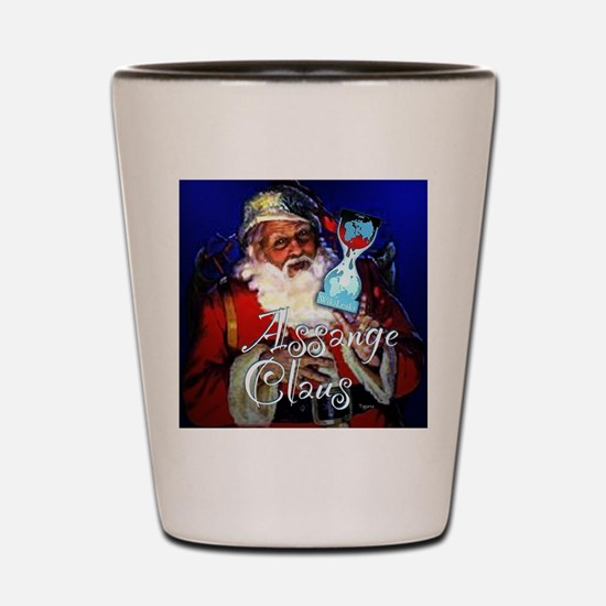 assange clause cafepress2 Shot Glass