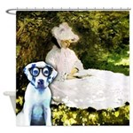 Life With Luigi And Claude Monet Shower Curtain