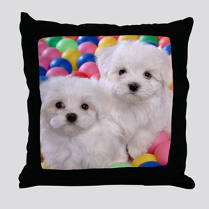 bishonFB calendar Throw Pillow