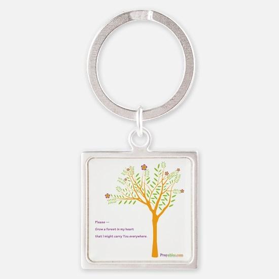 New Tree Praywear Square Keychain