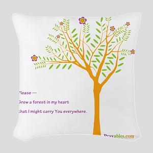 New Tree Praywear Woven Throw Pillow
