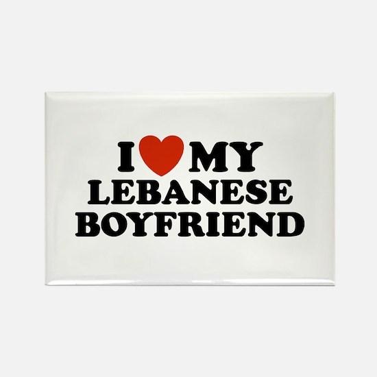 I Love My Lebanese Boyfriend Rectangle Magnet
