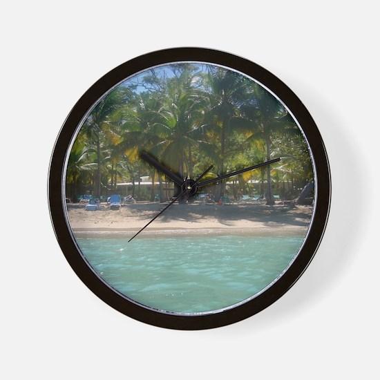 Tropical Beach DR Wall Clock